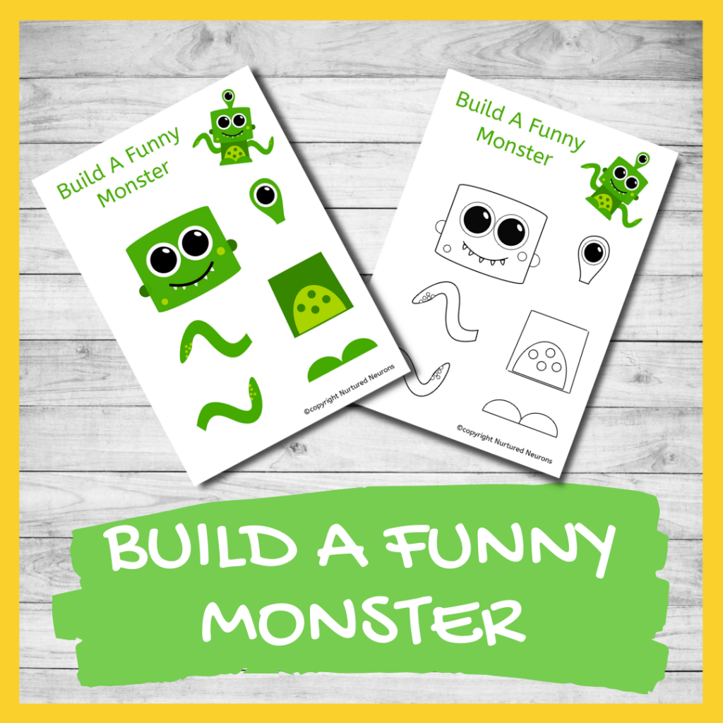 FREE PRINTABLE make a monster CRAFT