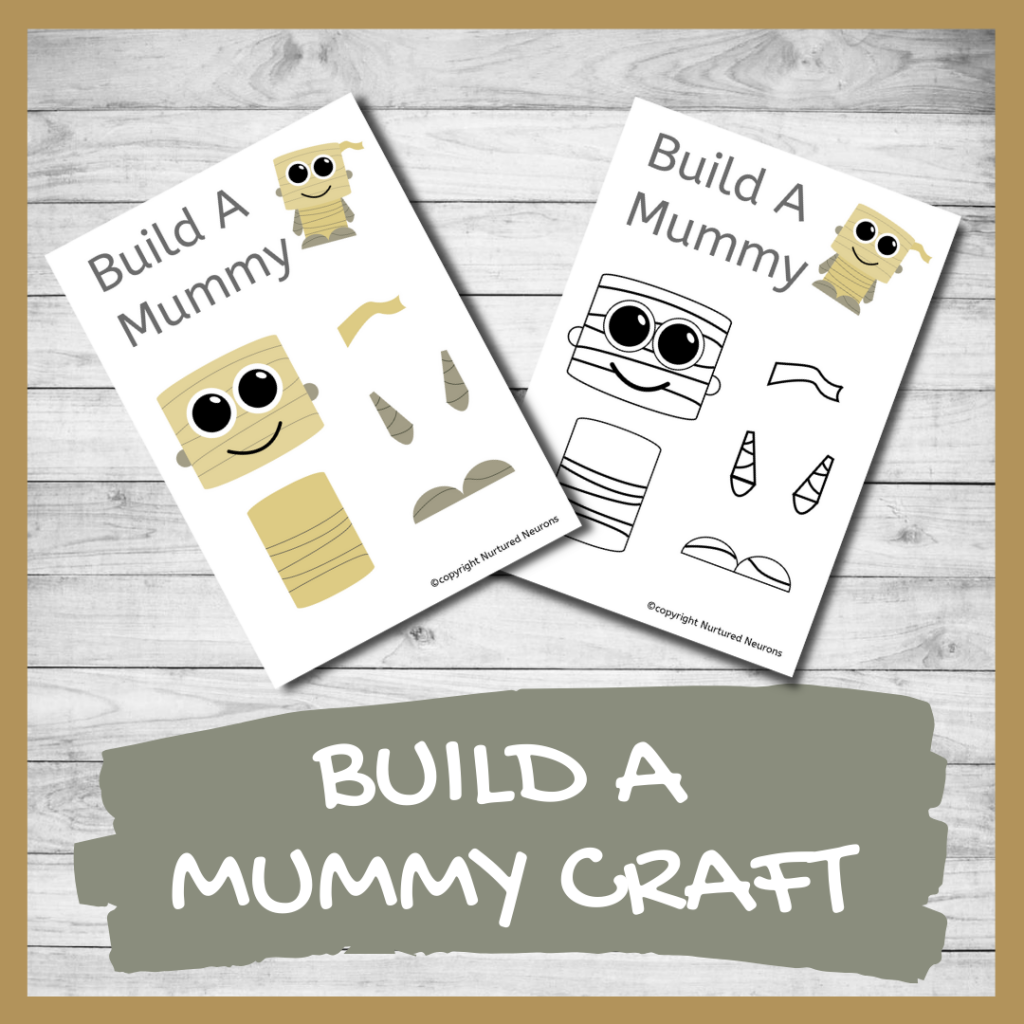 FREE PRINTABLE BUILD A MUMMY CRAFT CRAFT