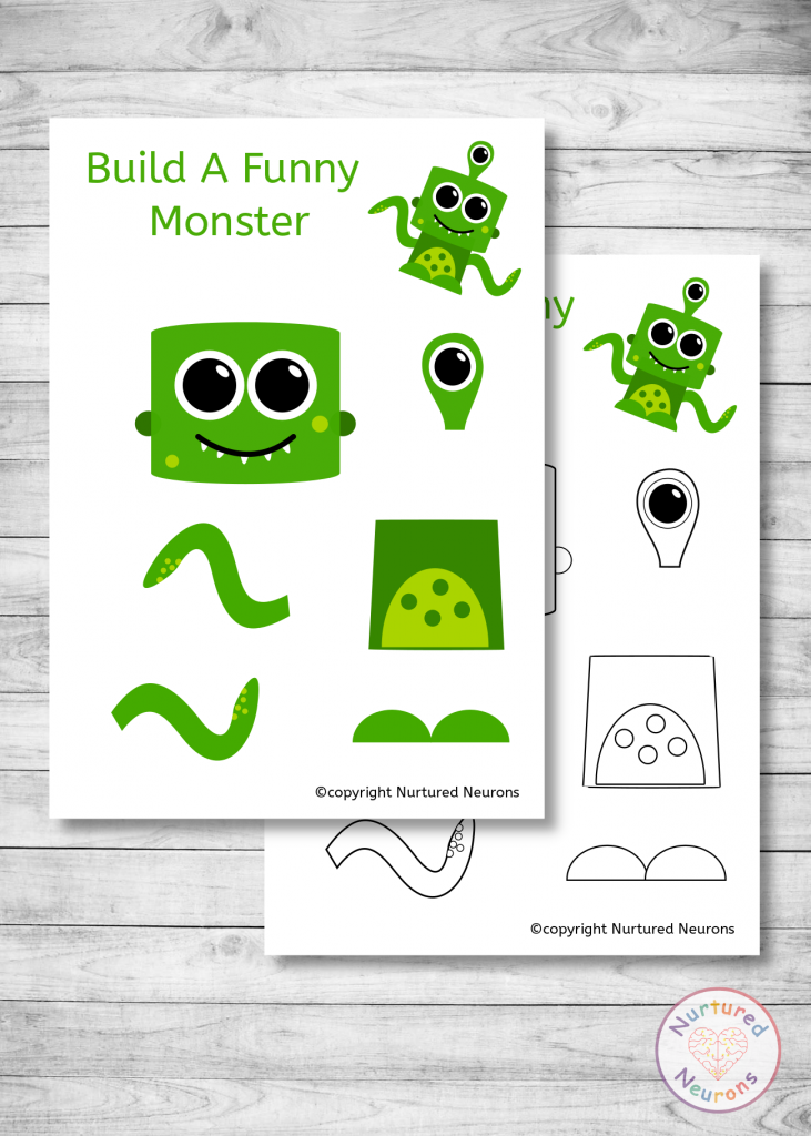 build a Funny Monster templates