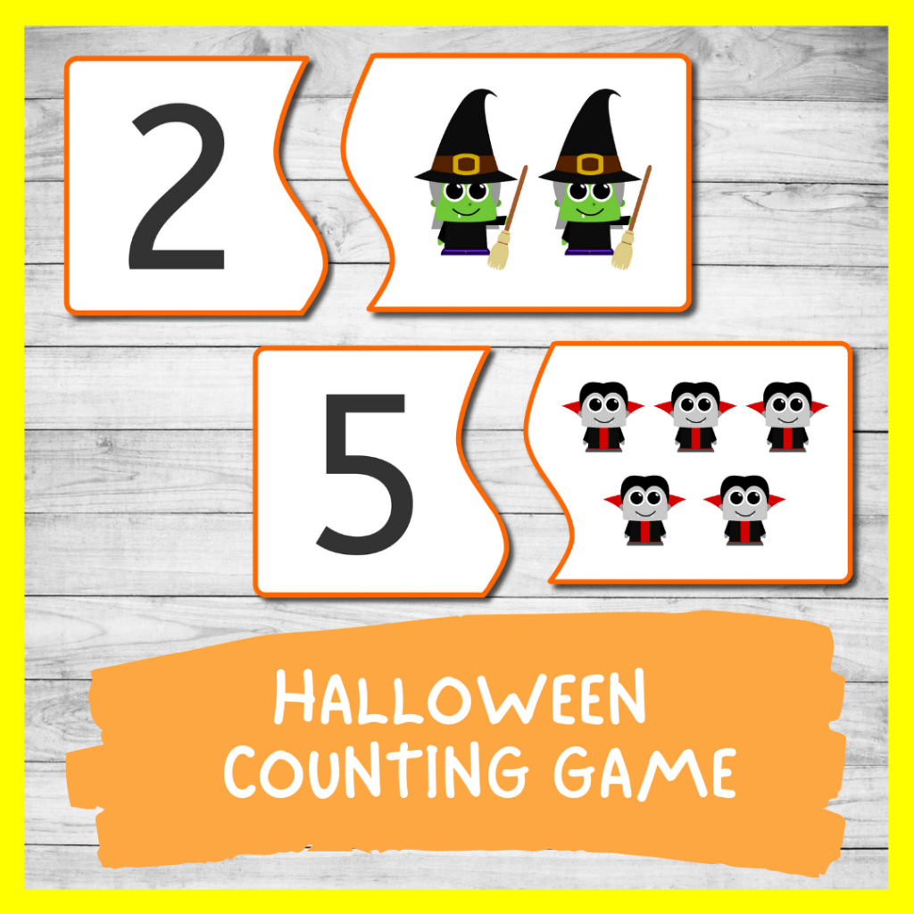 Halloween Counting GAME FOR TODDLERS AND PRESCHOOL (FREE PRINTABLE)