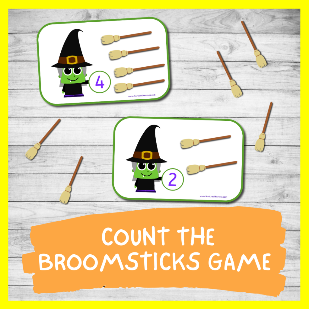 Halloween MATH GAME FOR TODDLERS AND PRESCHOOL (FREE PRINTABLE)
