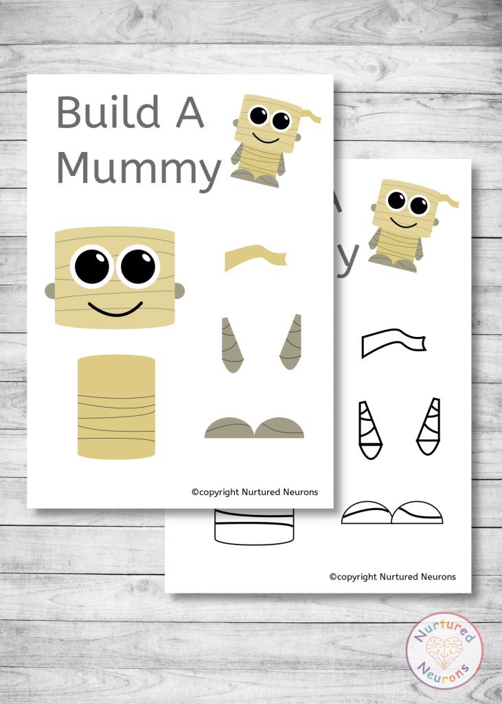 free Halloween mummy templates preschool craft