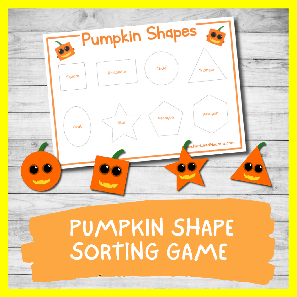 Pumpkin Shape Sorting Activity FOR TODDLERS AND PRESCHOOL (FREE PRINTABLE)