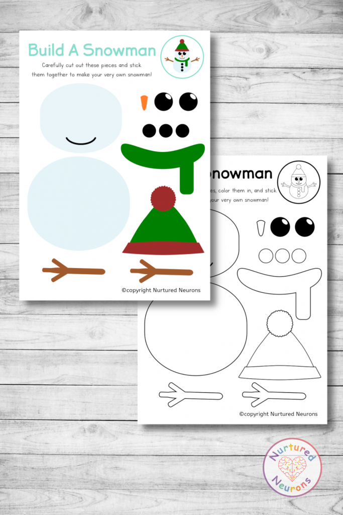 printable build a snowman templates
