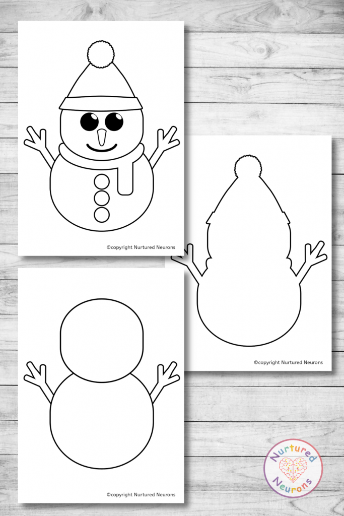 Printable Snowman Template free winter crafts