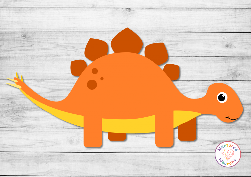 printable build a STEGOSAURUS craft templates preschool toddlers