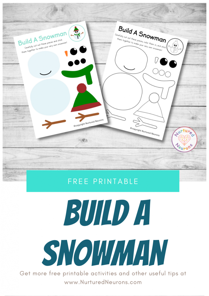 free printable snowman templates to build a snowman
