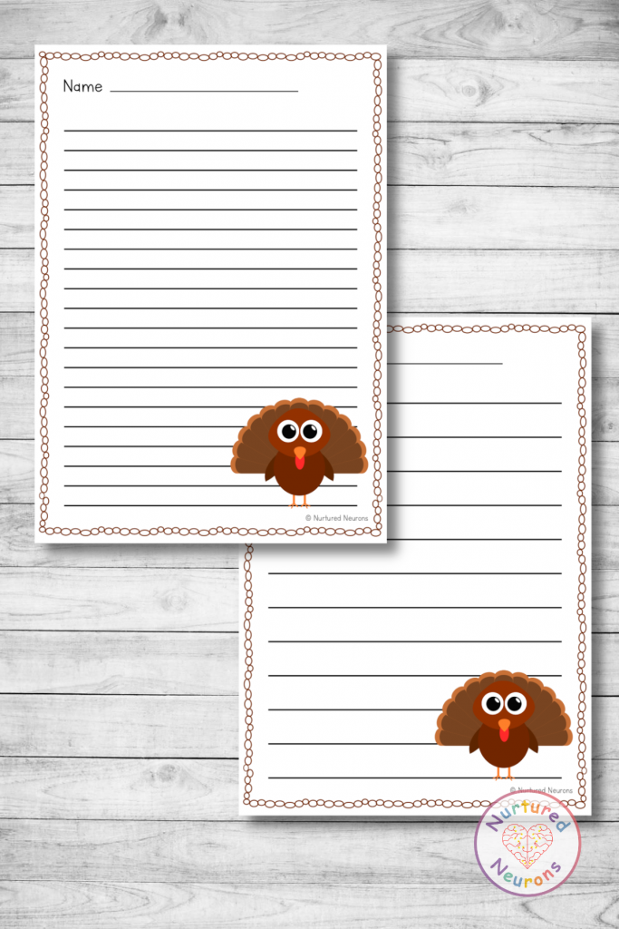 Differentiated THANKSGIVING WRITING PAPER PACK (ELEMENTARY WRITING RESOURCE)