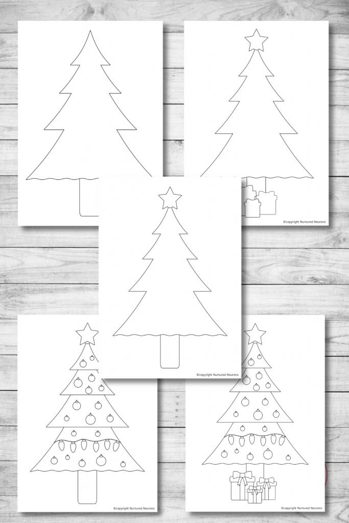 Printable Christmas Tree Templates free preschool printable