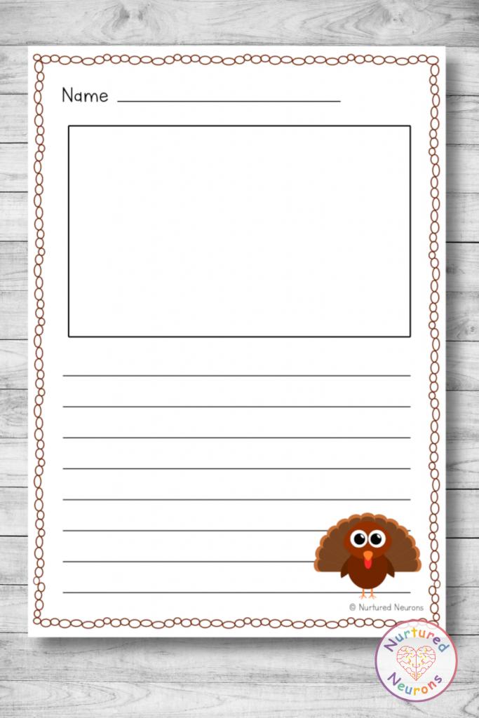 PRINTABLE Turkey WRITING PAPER PACK (thanksgiving WRITING RESOURCE)