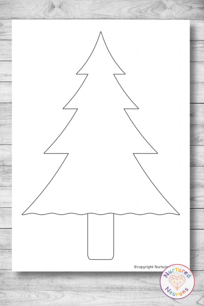 Christmas tree outline templates (printable craft templates)