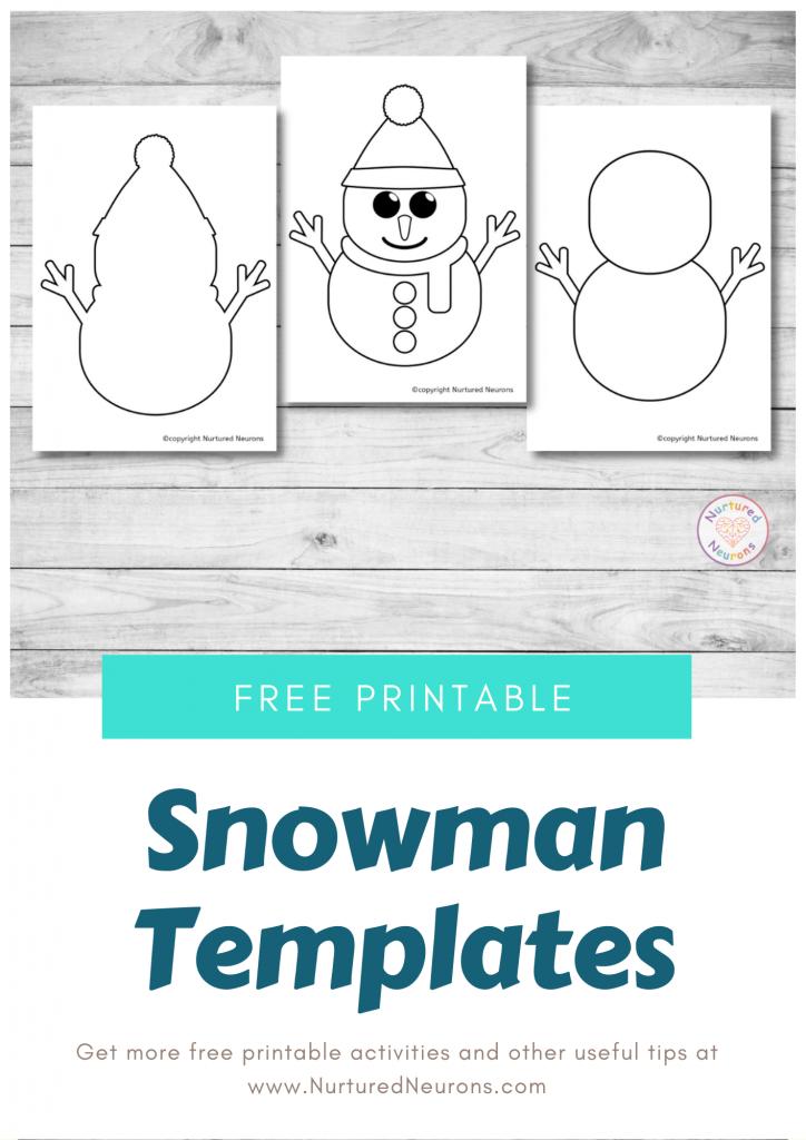 free printable snowman template (preschool download)