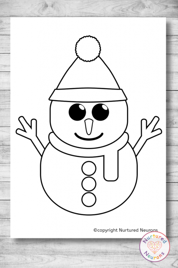 Printable Snowman Template free winter pages
