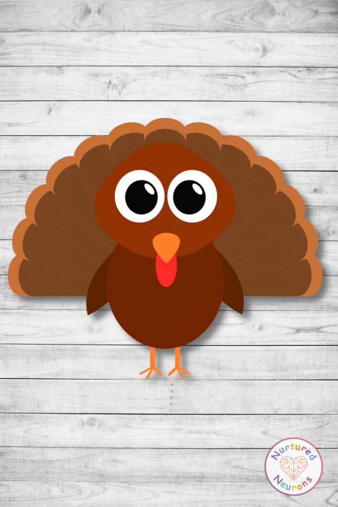printable turkey template (free preschool download)