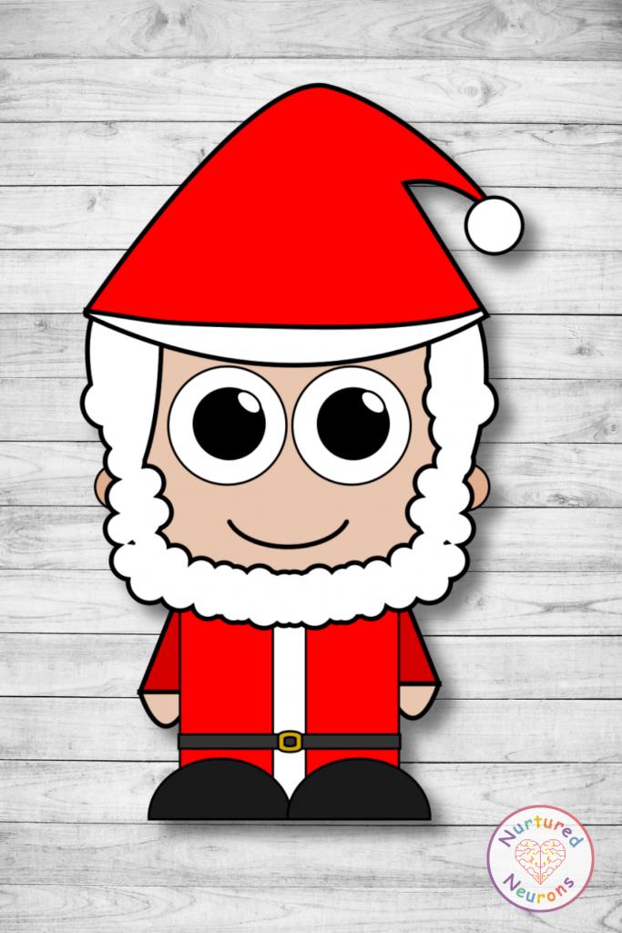 Free printable build a santa craft templates preschool toddlers