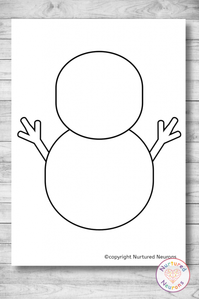 Printable Snowman Outline for crafts