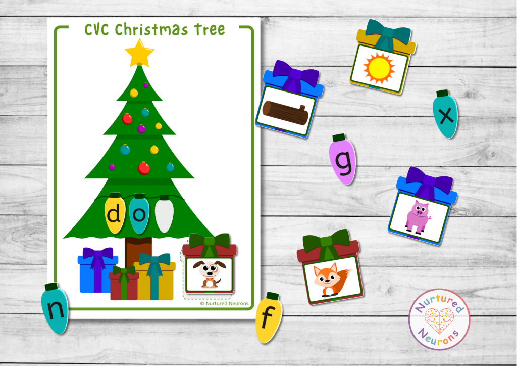 Christmas CVC game - festive phonics fun!