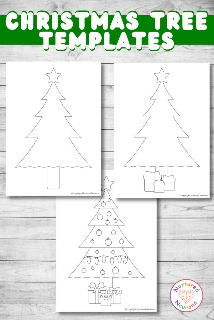 Christmas tree outline printable templates