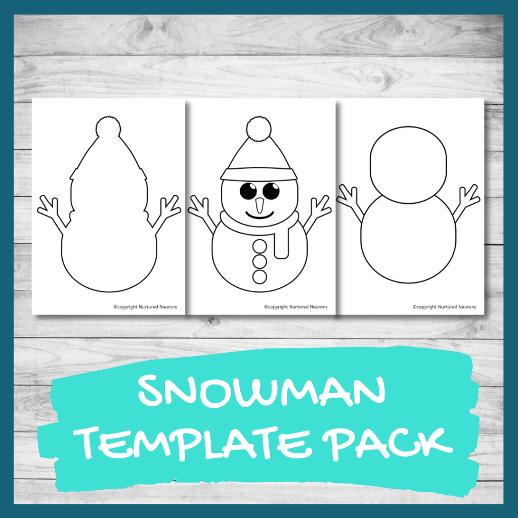 FREE PRINTABLE snowman template for crafts and coloring pages