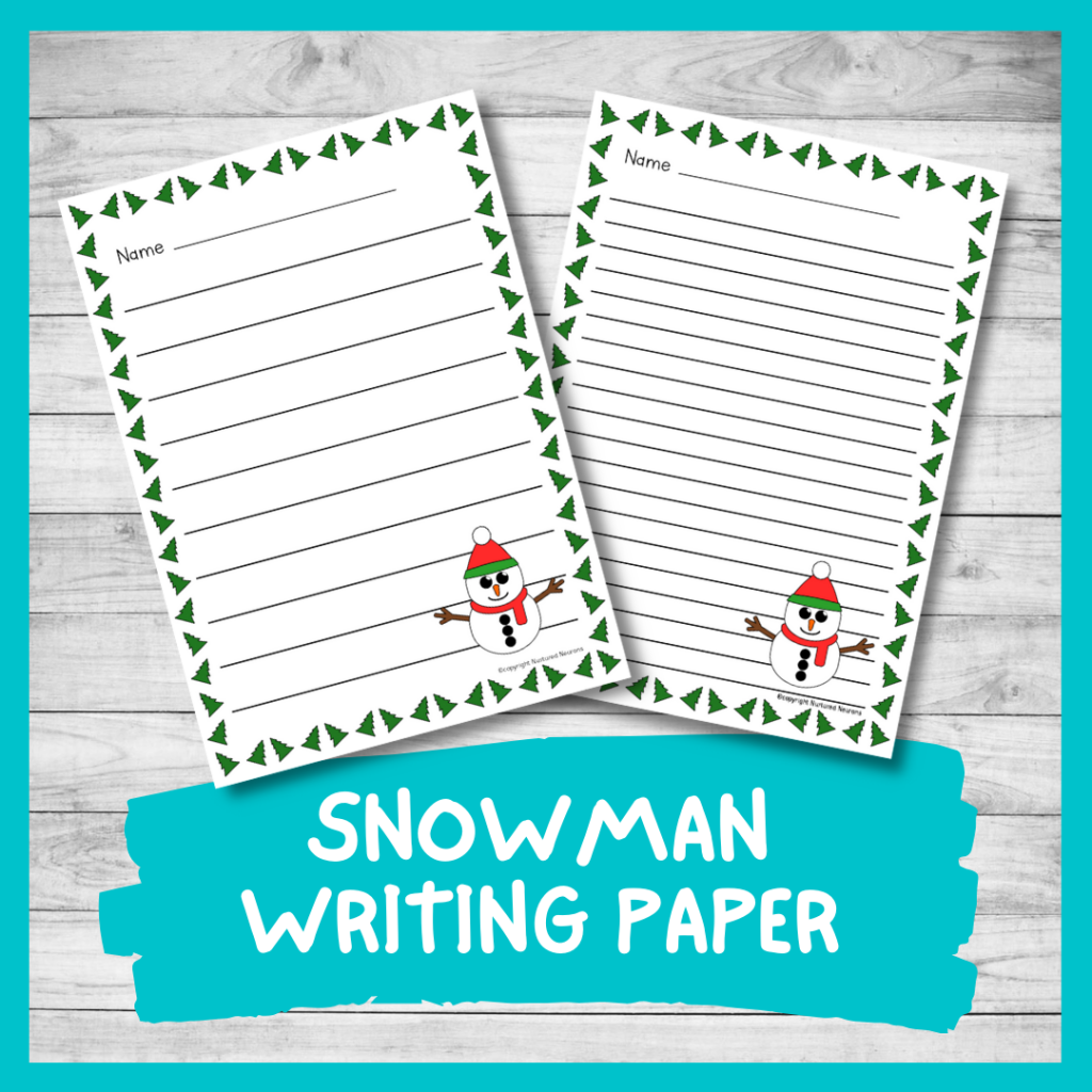 PRINTABLE SNOWMAN WRITING PAPER - DIFFERENTIATED WINTER WRITING PAGES