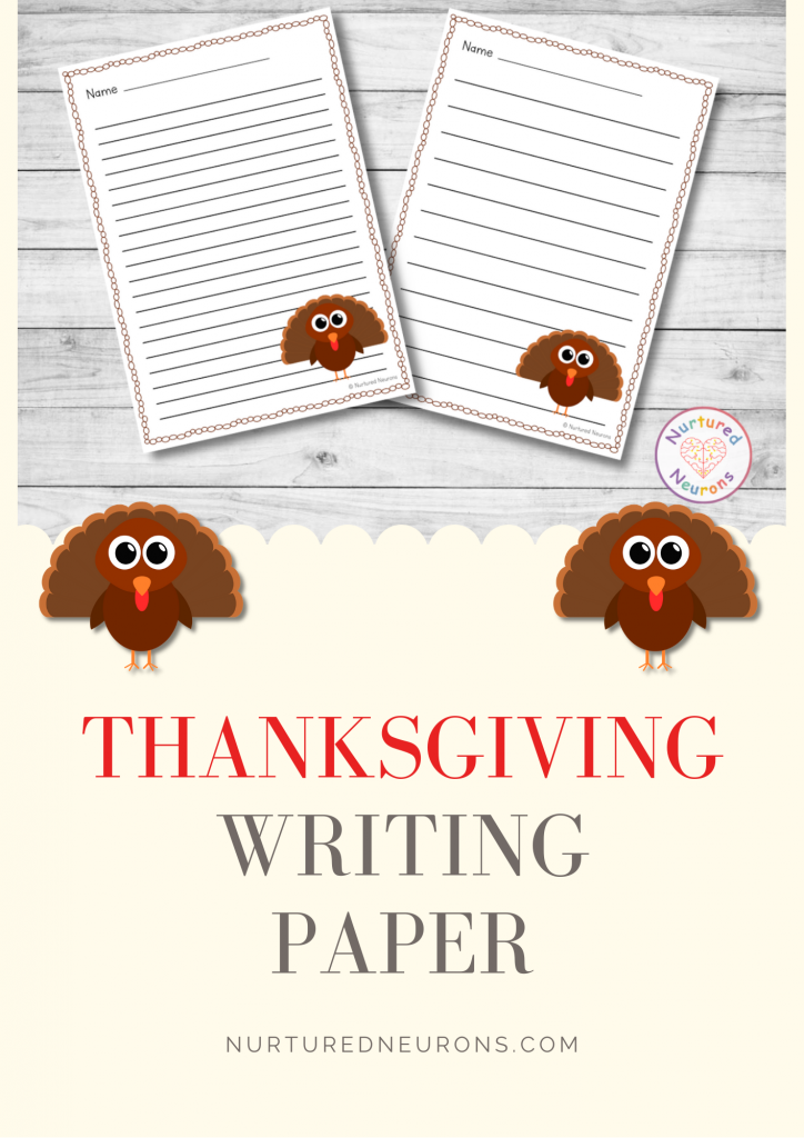 differentiated thanksgiving lined writing paper