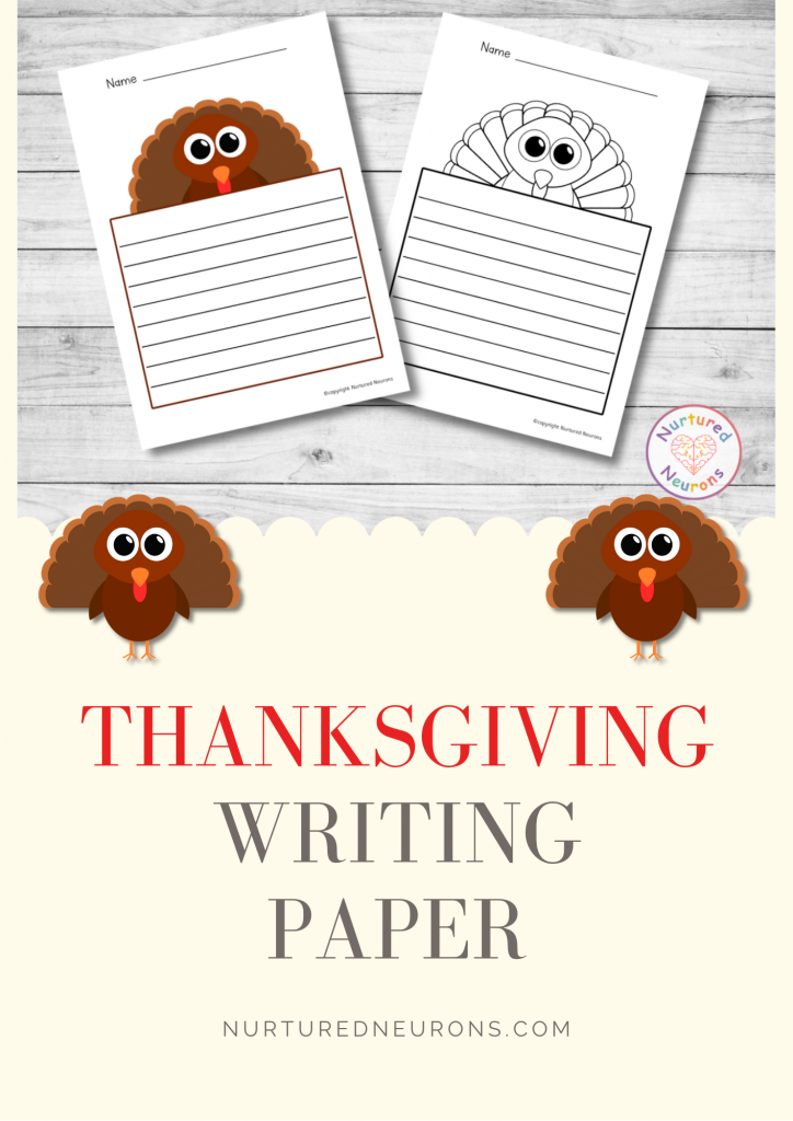 printable thanksgiving lined writing paper
