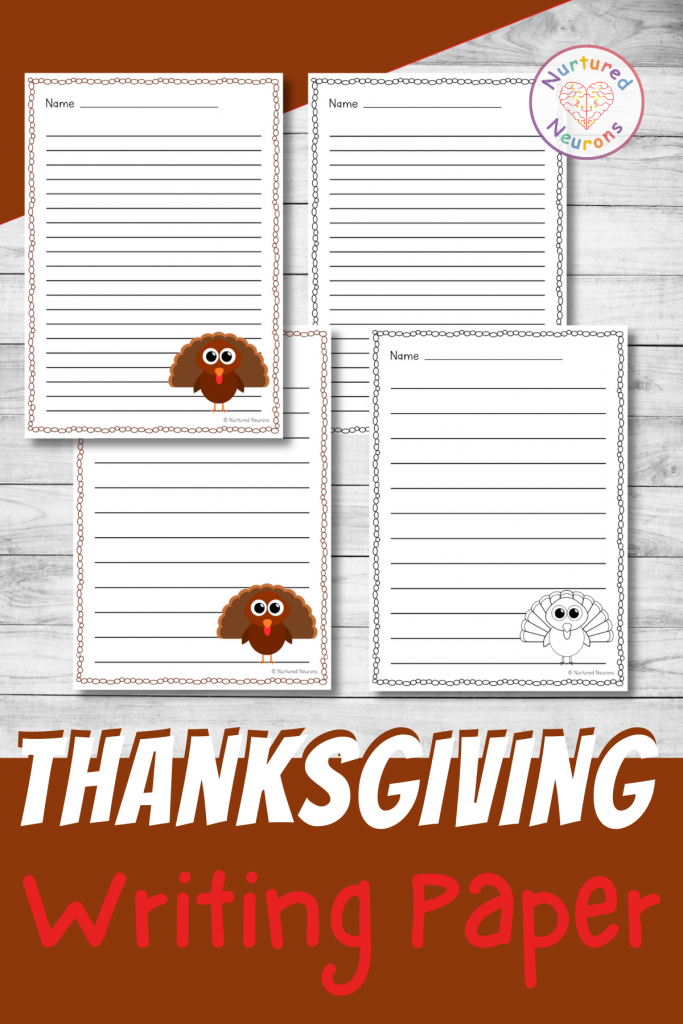 printable thanksgiving writing paper pack - turkey writing pages differentiated