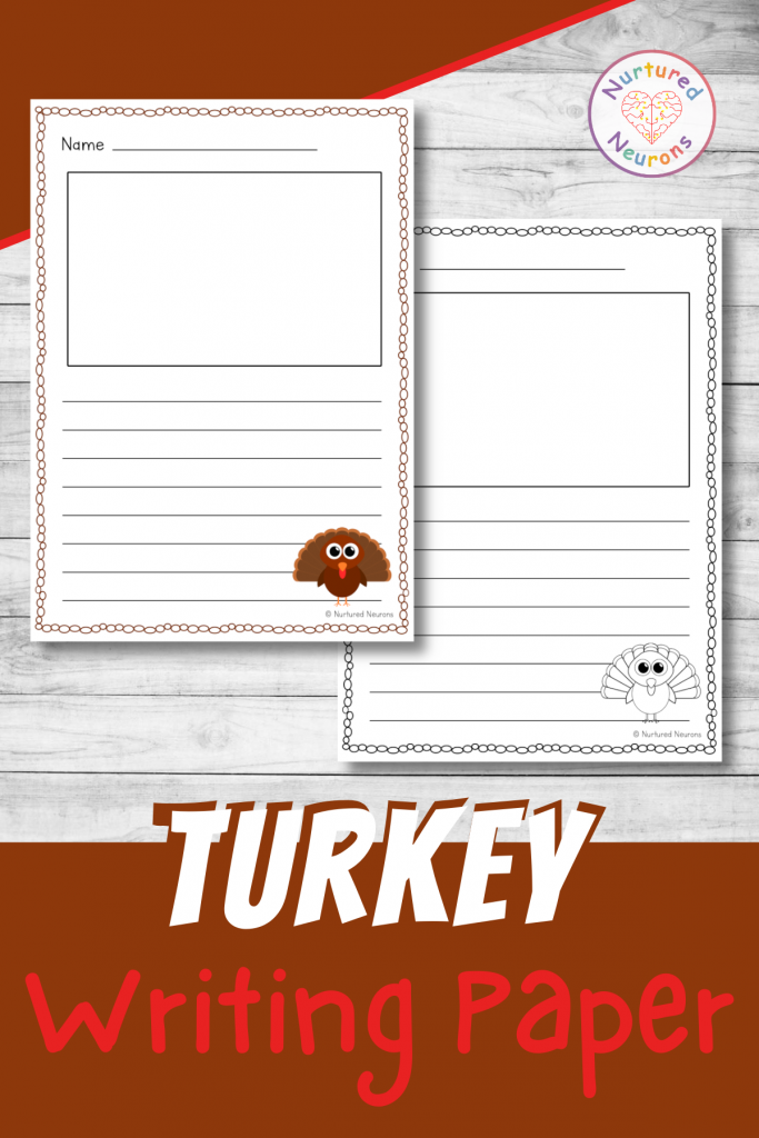 printable turkey writing paper pack - thanksgiving writing pages