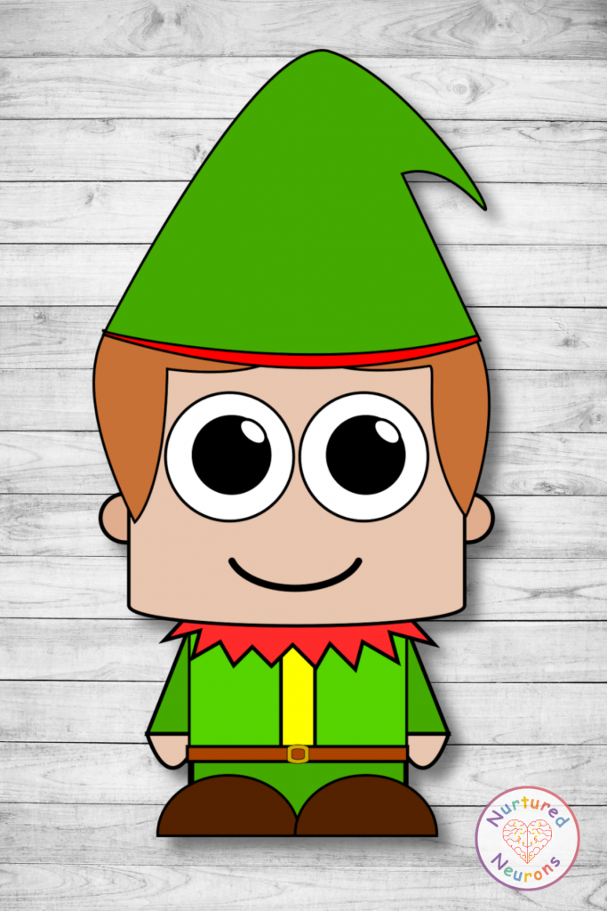 printable elf template (free preschool download)