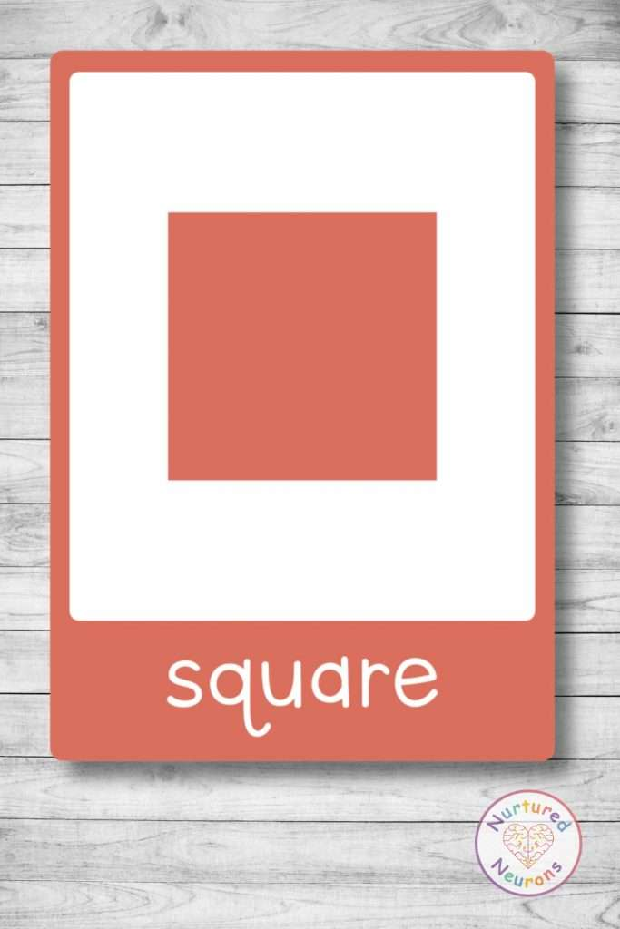 square flashcard - printable shape flashcards for preschoolers