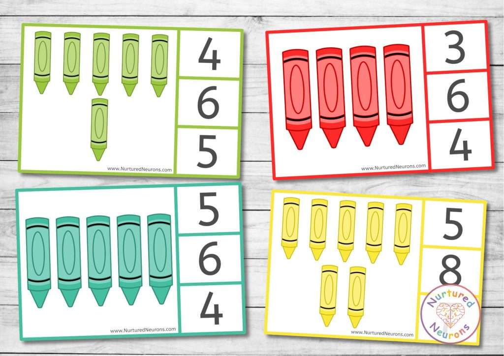 printable counting clip cards for kindergarten and peg cards for preschool