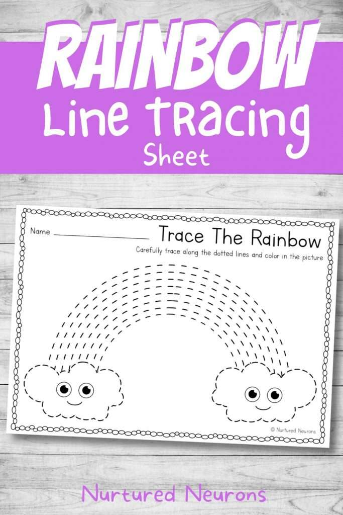 printable preschool line tracing practice with a weather theme kindergarten