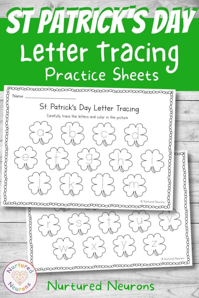 Trace the letters for preschool and kindergarten