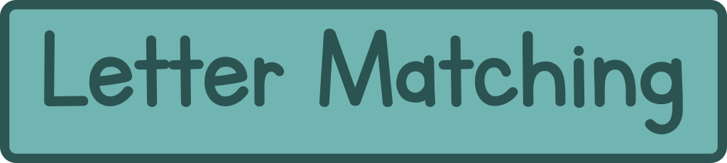 Letter Matching printables, games and worksheets for preschool and kindergarten