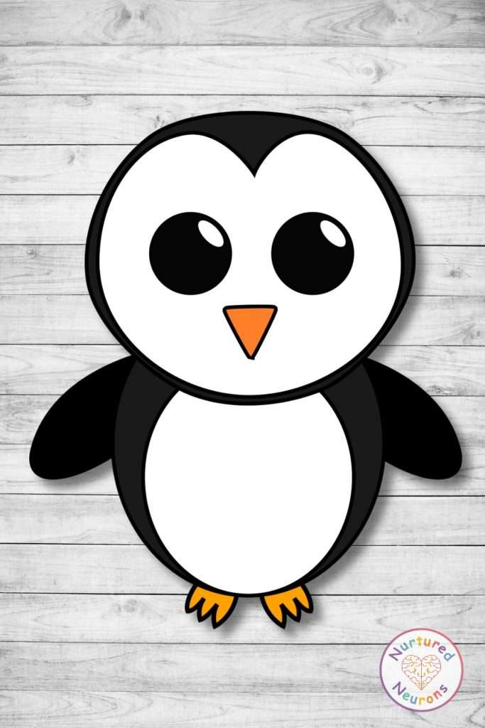 Free printable build a penguin cut and paste craft templates penguin chick crafts