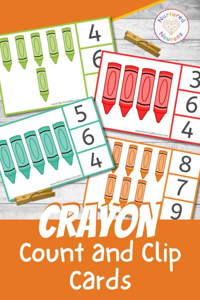 Counting Clip cards for preschool and kindergarten math activities
