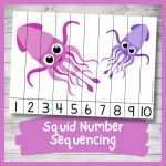 Sweet Squid Number Sequencing Puzzle (Printable)