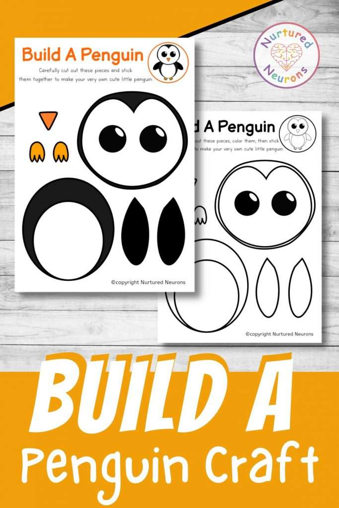 build a penguin craft preschool printable cute penguin chick cut and paste for preschool and toddlers