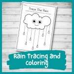 Improve Pencil Control with this Wonderful Rain Tracing Worksheet