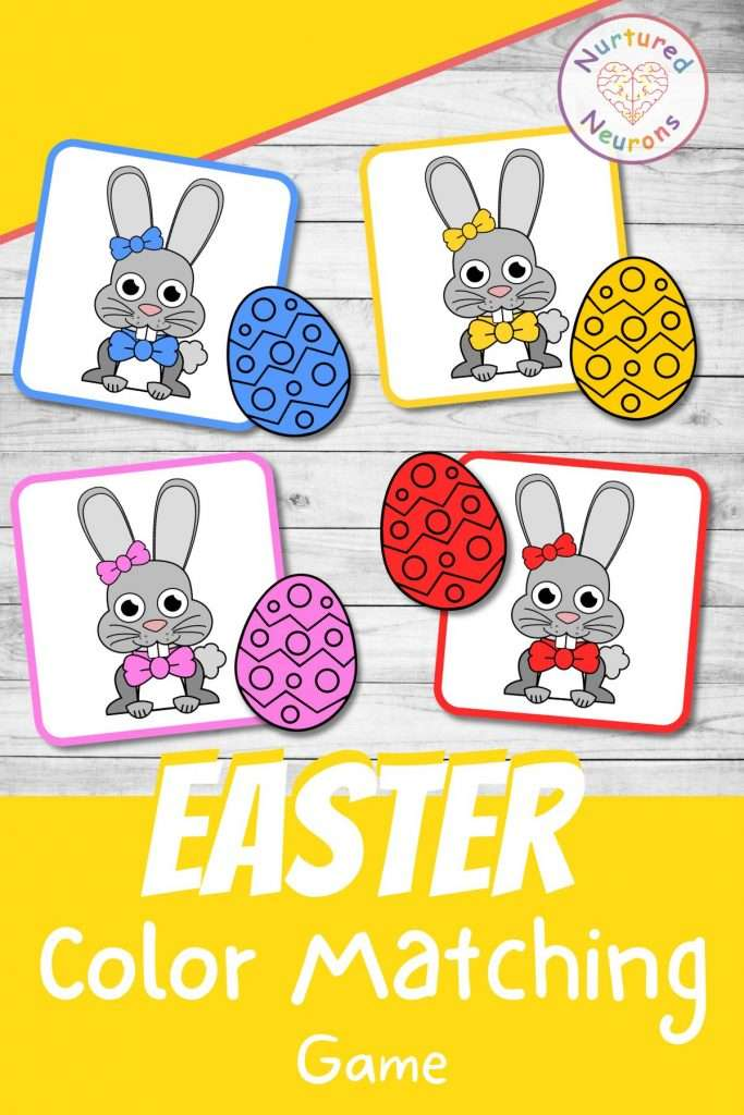 Easter Color Matching game for preschool and kindergarten - printable Easter activity