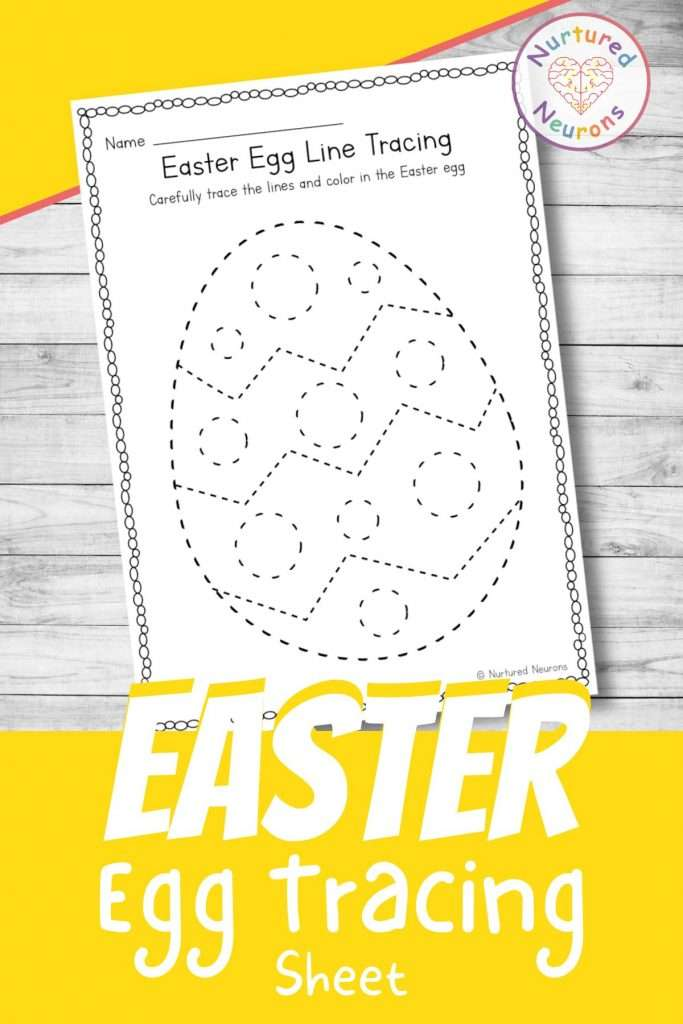 Easter Line tracing worksheets for preschool - printable tracing page for kindergarten and toddlers