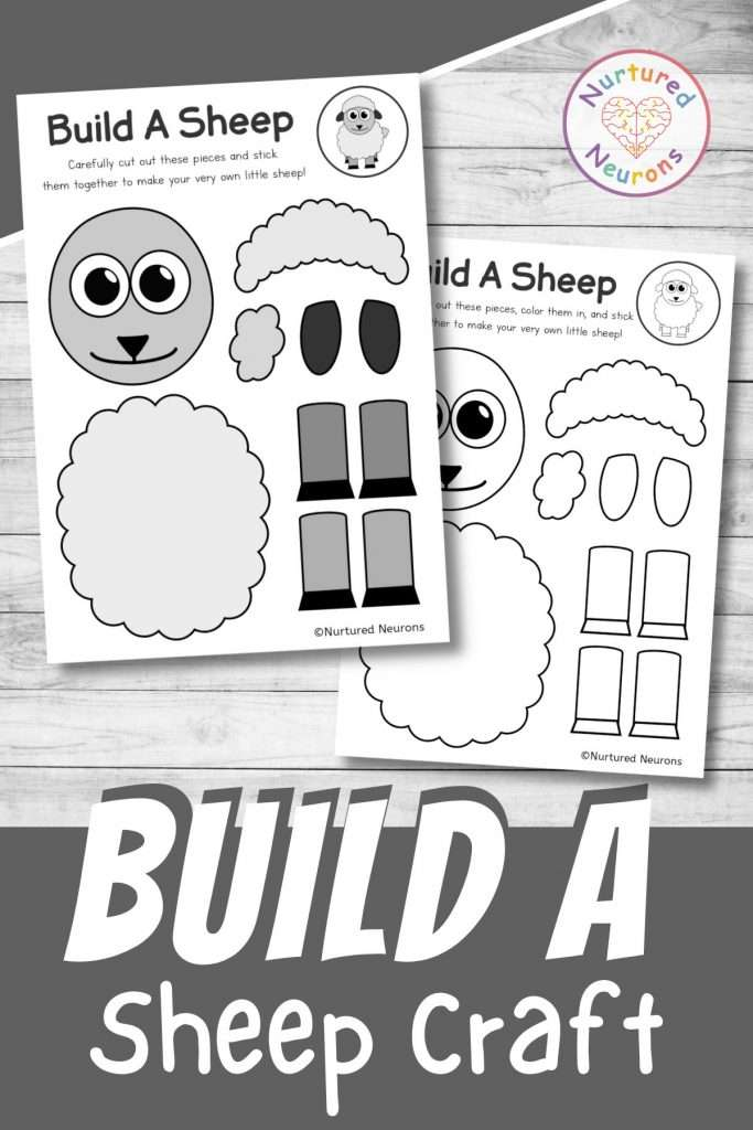 build a sheep craft printable cute spring lamb cut and paste for preschool and toddlers
