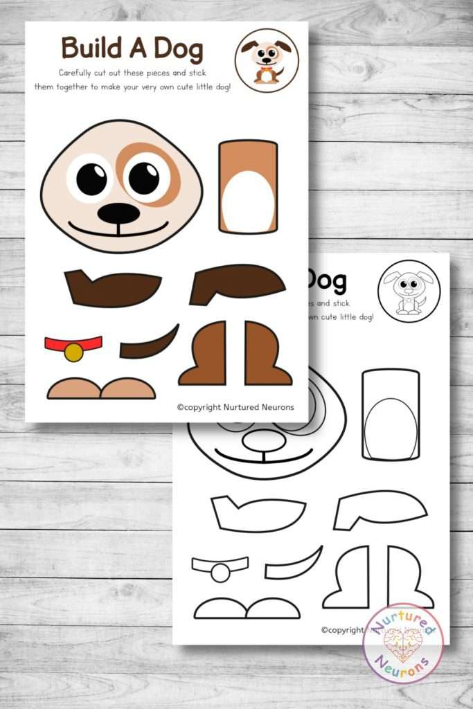 make a puppy with this simple build a dog craft - great for preschool and kindergarten