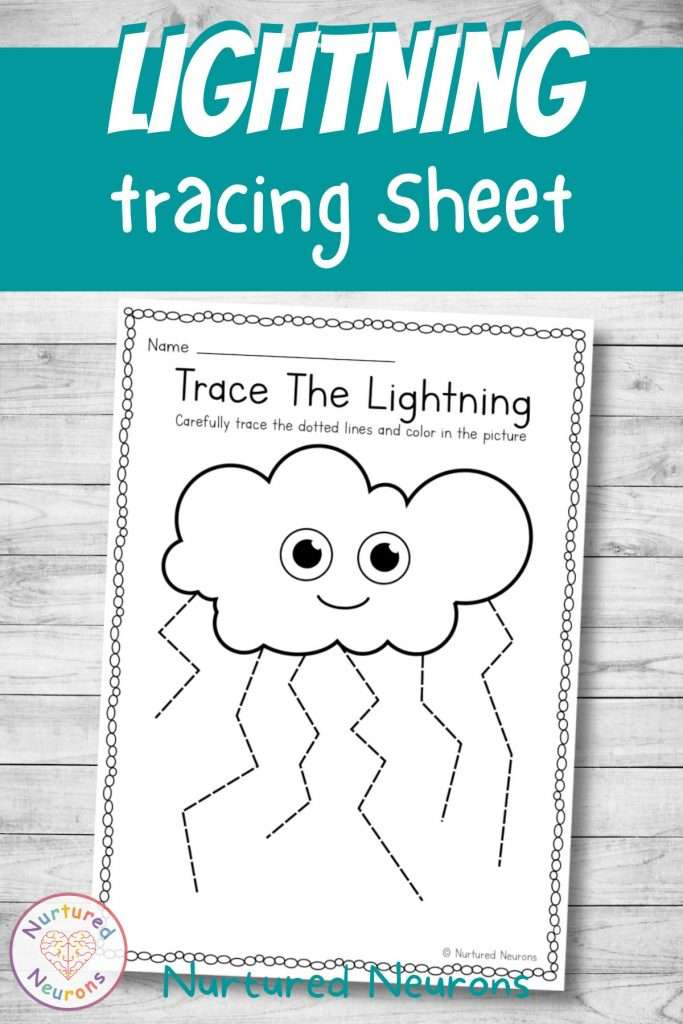 weather worksheet - tracing for kids