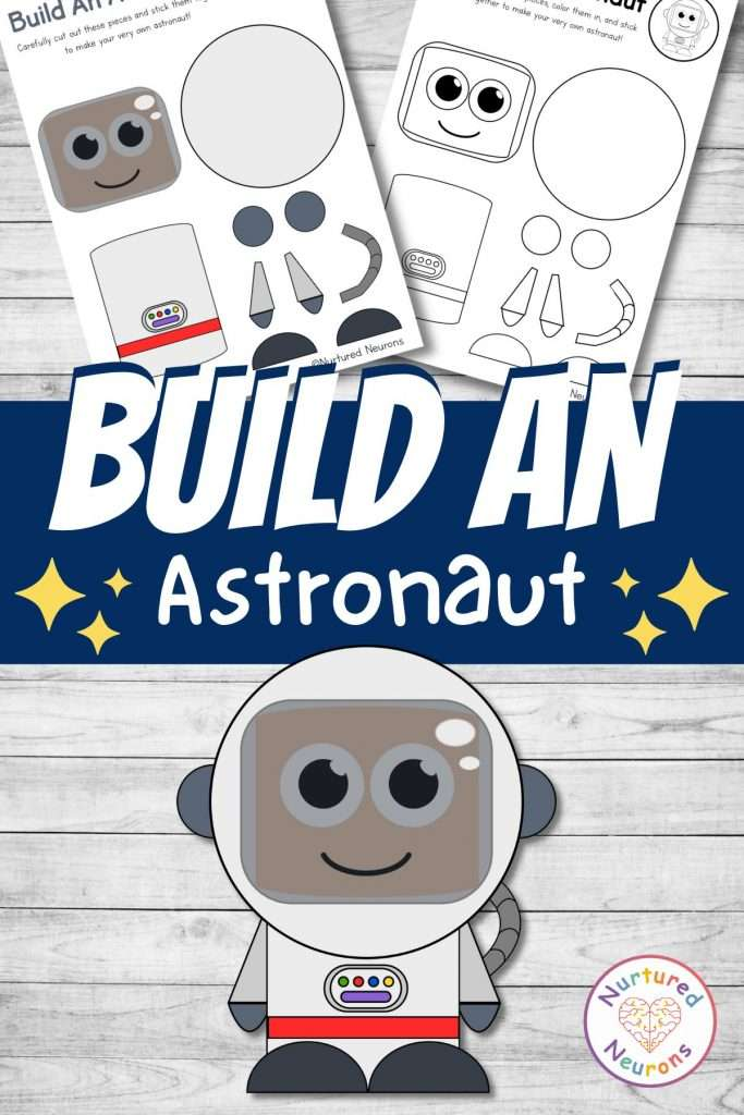 Fun and simple space craft for kids - make an astronaut