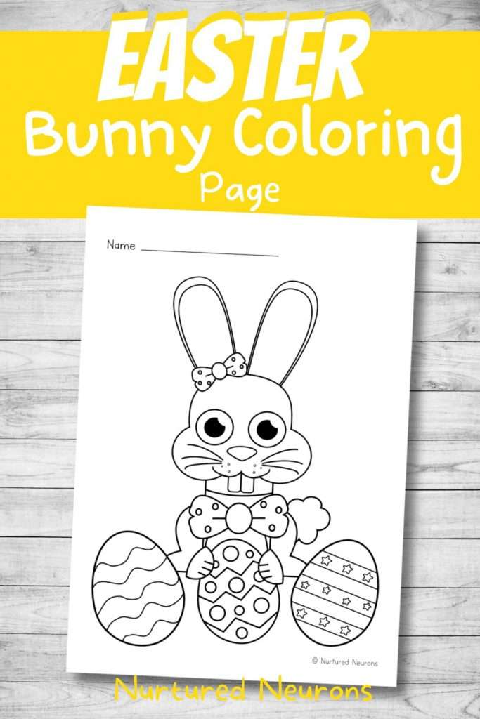 Printable Easter coloring sheets - Easter bunny pdf