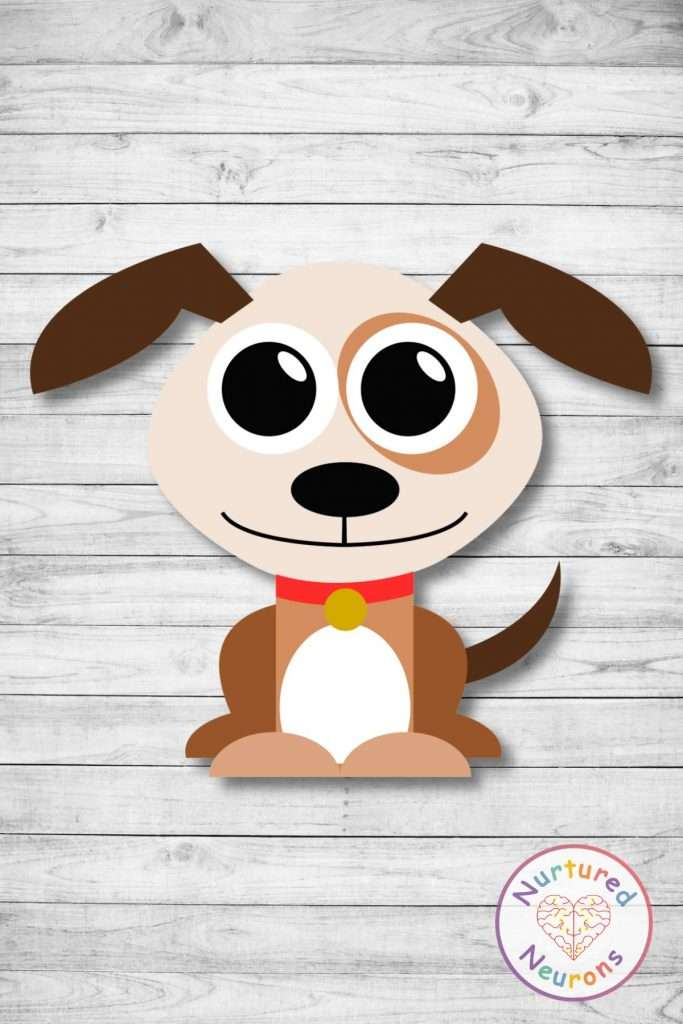 super cute cut and paste puppy craft - prek