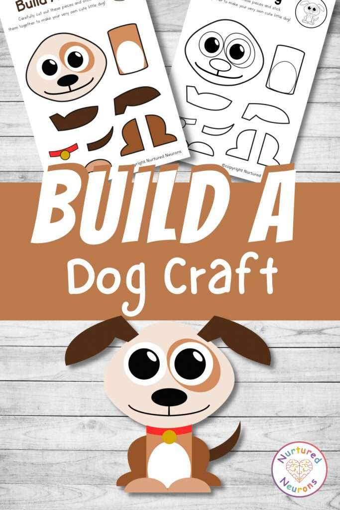 build a dog craft printable cute puppy cut and paste for preschool and toddlers