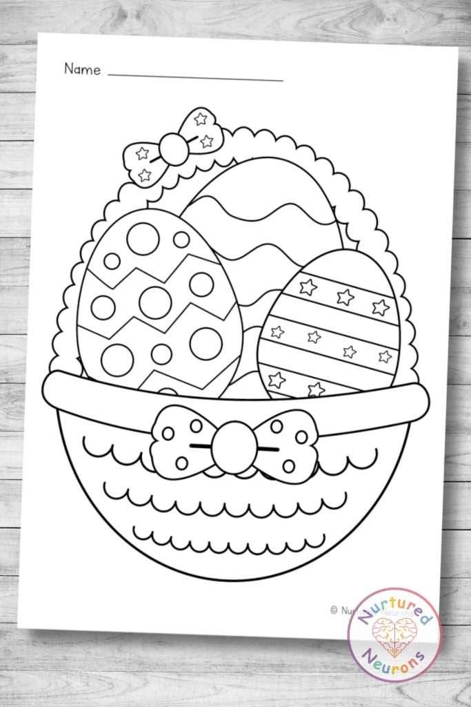 printable Easter Egg coloring page (preschool pdf download)