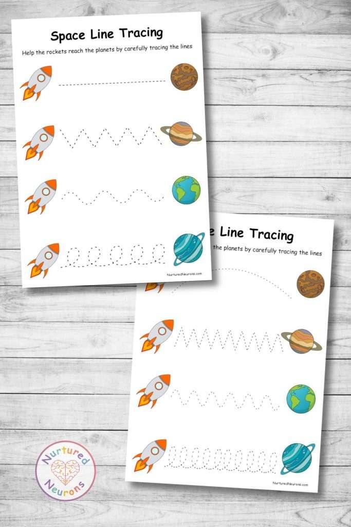 Differentiated line tracing worksheets for preschool and kindergarten kids
